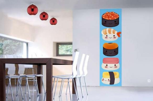 papier peint original sushi