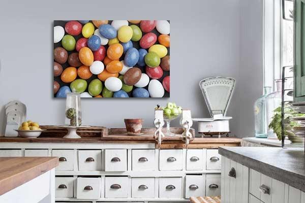 Tableau moderne bonbons color s izoa for Tableaux modernes colores