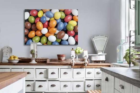 Tableau décoration bonbons colorés