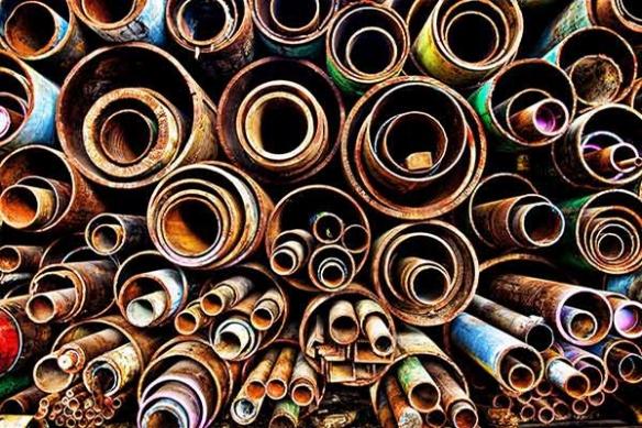 Papier Peint graphique design Tuyaux