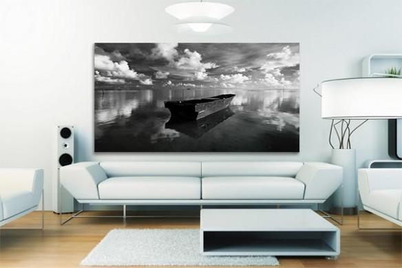Tableau design noir et blanc Embarcation