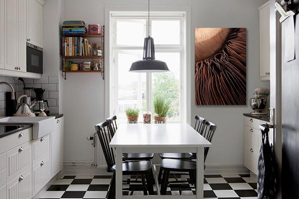 Toile d co lamelle de champignon izoa - Toile deco cuisine ...