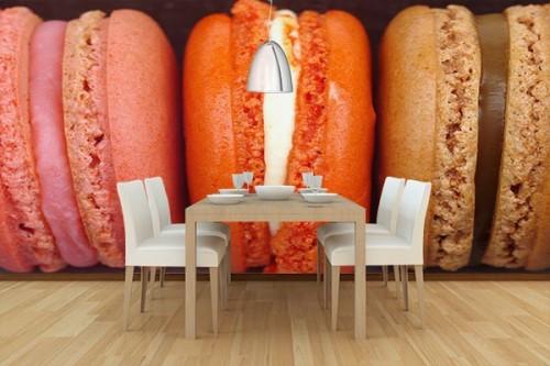 Papier Peint décoration macarons
