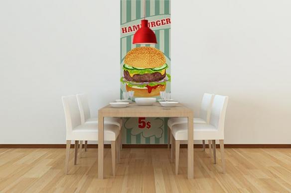 Papier peint déco Hamburger