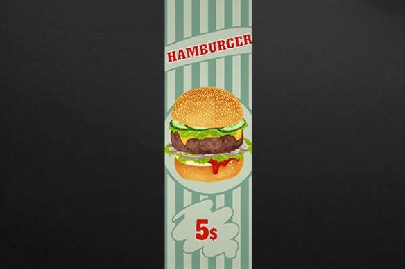 Papier peint cuisine Hamburger
