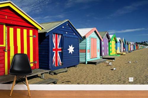 Papier peint photo cabanes du monde