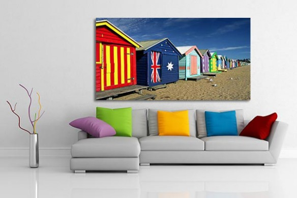 deco murale cabanons plage monde