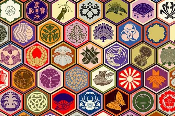 Toile déco Symboles japonnais