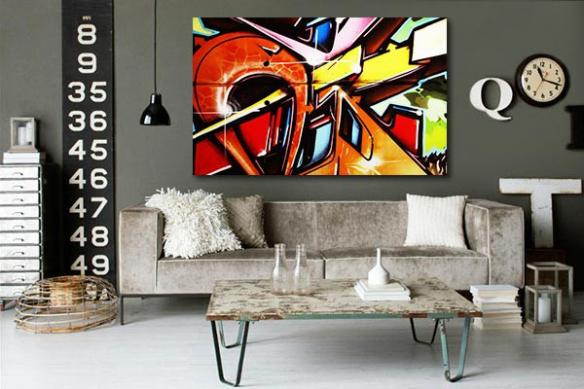 Tableau moderne tag Urban Art