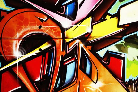 Tableau abstrait tag mur