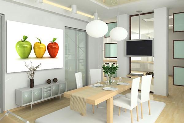 tableau design 3 pommes grand format izoa. Black Bedroom Furniture Sets. Home Design Ideas