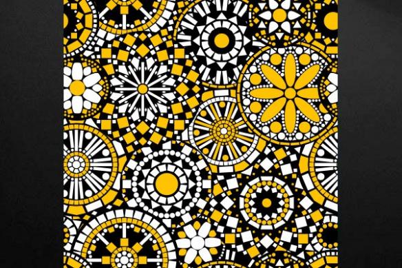 Tableau fleur Philéas jaune