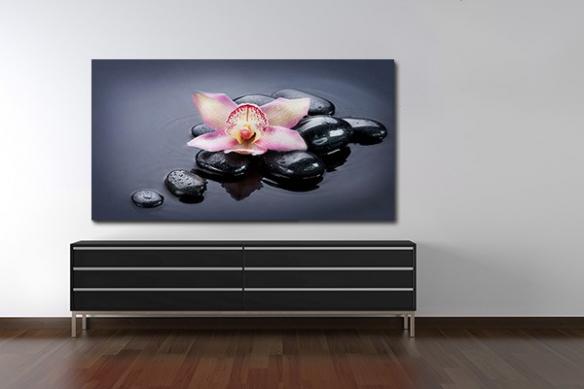 Tableau déco Fleur Orchidée Zen