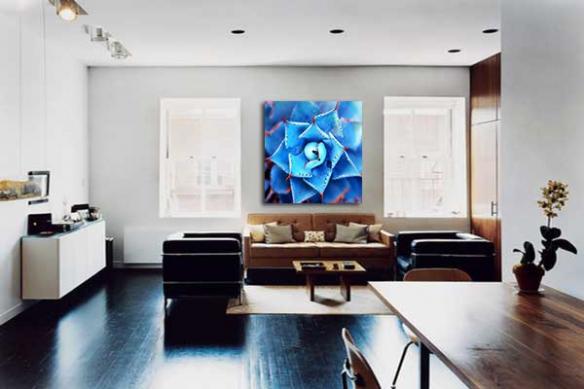Tableau moderne Fleur bleue Tequila