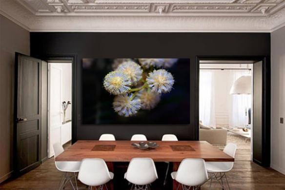 Tableau fleur original échinops ritro