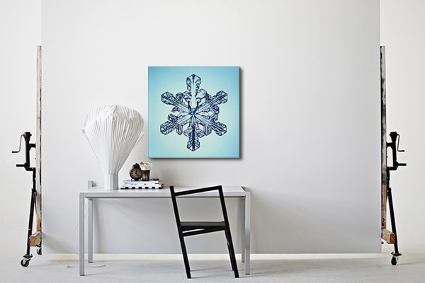 tableau design flocon de verre izoa. Black Bedroom Furniture Sets. Home Design Ideas