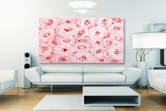 Tableau fleur mille roses