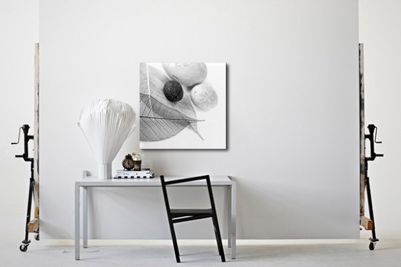 Tableau déco noir et blanc instant zen