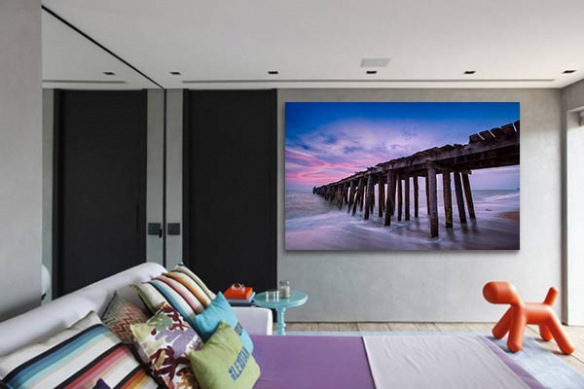 Tableau photo balade sur la plage