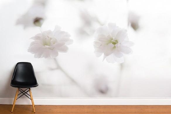 Papier peint fleur Pureté