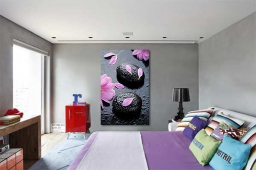 tableau moderne nuage de douceur izoa. Black Bedroom Furniture Sets. Home Design Ideas