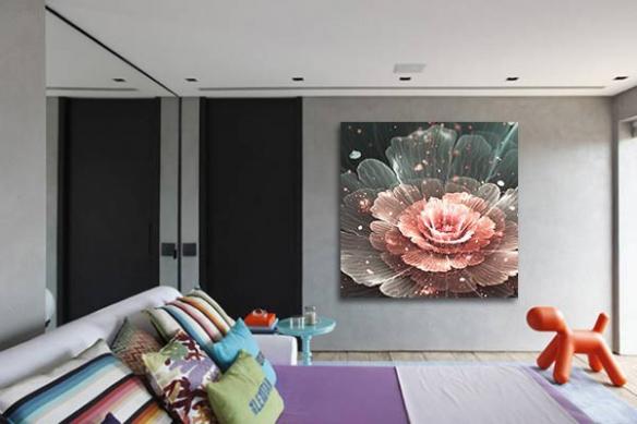 Tableau fleur Pivoine de Chine