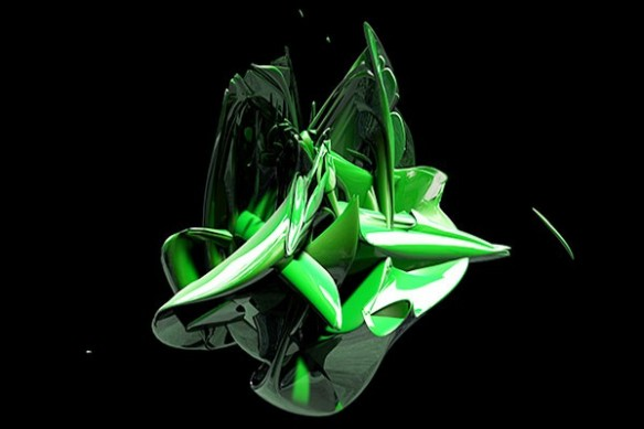 Tableau design Big Bang vert
