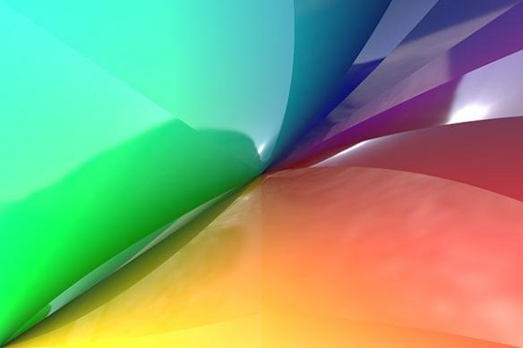 Tableau abstrait Cosmique