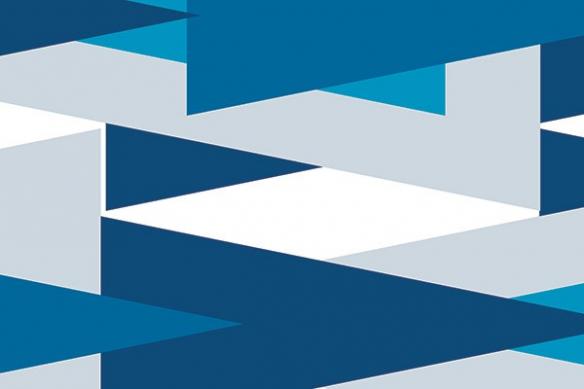 Tableau deco large direction bleu