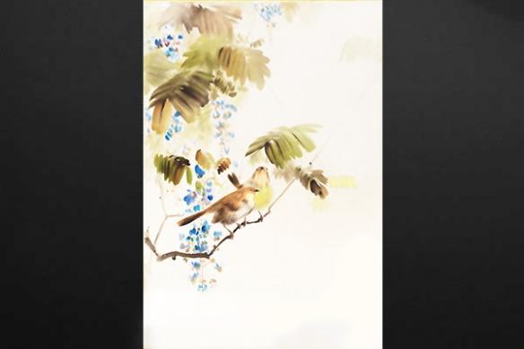 tableau zen Moineau d'Emin