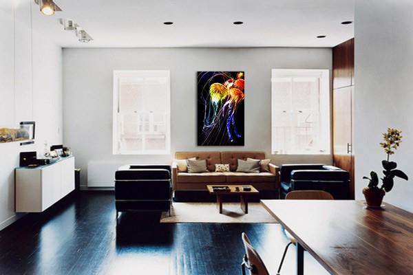 tableau deco murale medusa izoa. Black Bedroom Furniture Sets. Home Design Ideas