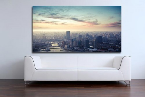 Tableau photo Vue sur Shanghai