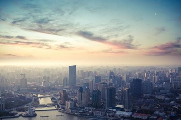 Tableau déco Vue sur Shanghai