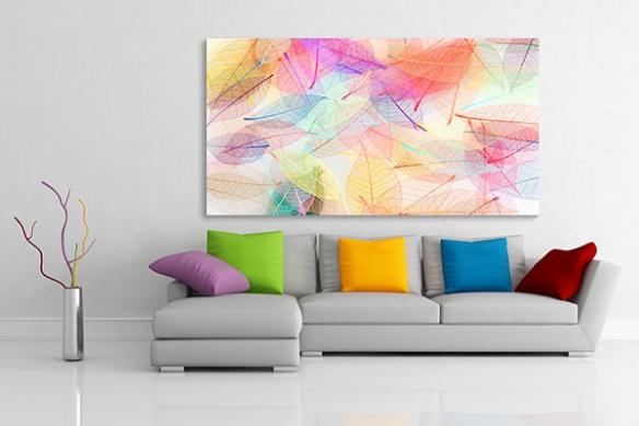 Tableau design folie colorée