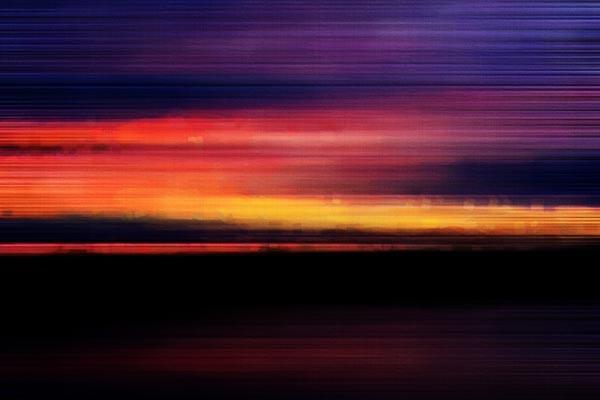 Tableau abstrait Crépuscule  Izoa