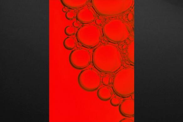 Tableau moderne cellulaire rouge