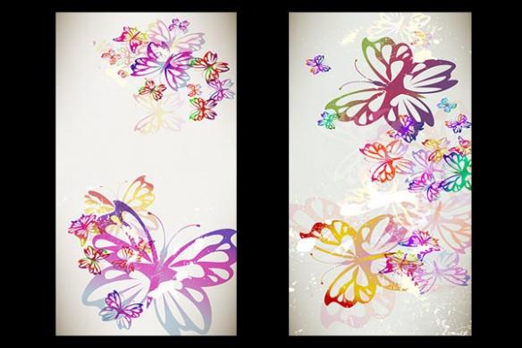 Toiles décos papillons