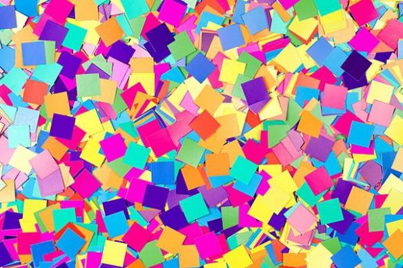 Toile abstraite Confetis