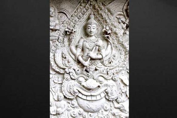 Toile déco murale Statue Indienne