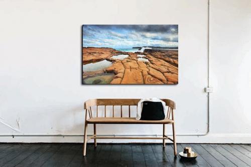Tableau décoration Lac cratère
