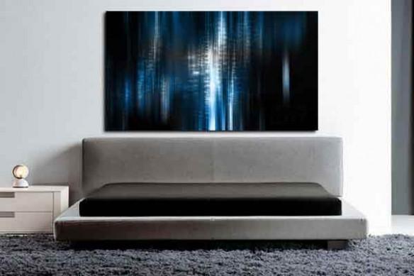 Tableau design Bleu intense