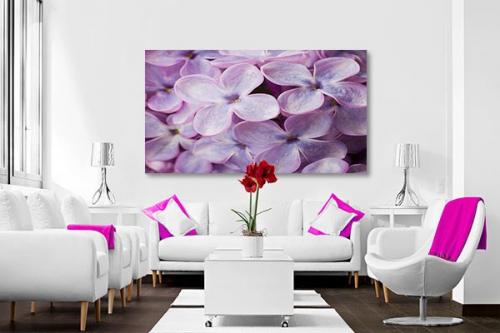 Toile Fleur Lilas délicats