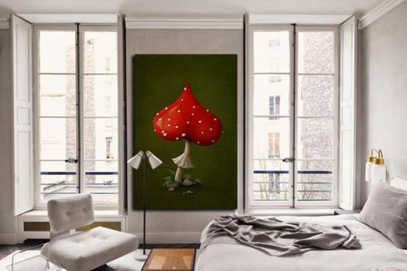 Toile originale champignon d'amour