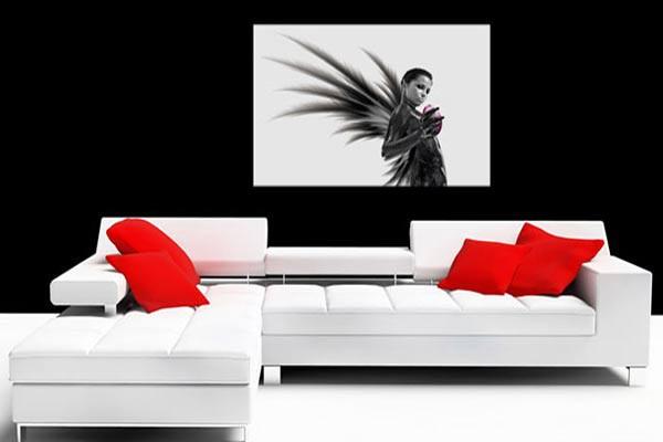 tableau contemporain ange ou d mon izoa. Black Bedroom Furniture Sets. Home Design Ideas