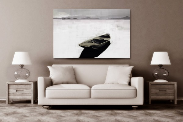 tableau xxl barque abandonn e izoa. Black Bedroom Furniture Sets. Home Design Ideas