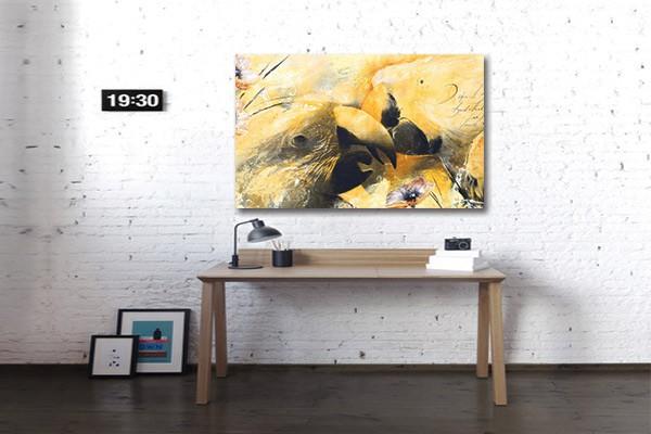 tableau d co murale perroquet izoa. Black Bedroom Furniture Sets. Home Design Ideas
