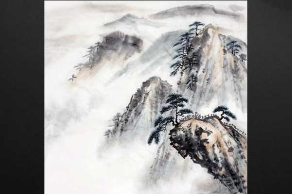 aquarelle paysage Zen