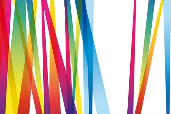 lignes couleur mikado deco mural tableau