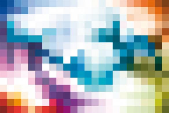 tableaux modernes color Pixel
