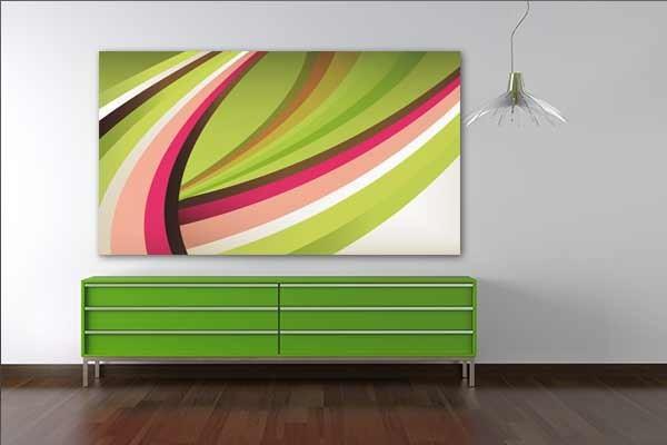 tableau abstrait courbes seventies izoa. Black Bedroom Furniture Sets. Home Design Ideas